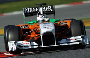 Sutil takes over Force India testing in Barcelona