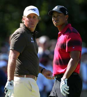 Mickelson confident, Tiger hungry, Rory mellow at PGA