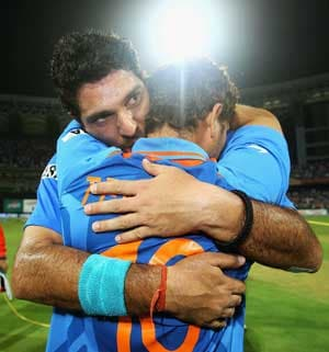 I will shed tears of joy over my son's shoulder: Yuvi's father