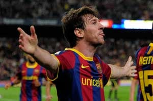 Barca maintain title surge with Almeria victory