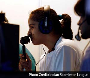 Saina Nehwal in Hindi commentary box