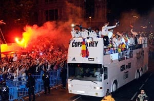 Thousands welcome Real home after Spanish Cup win