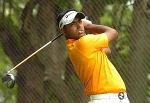 Anirban Lahiri shares lead midway through second round at Omega European Masters