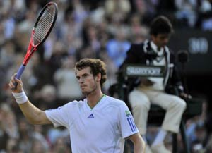 Murray cruises into 3rd round in straight sets