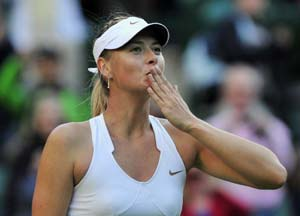 Sharapova eases into the second round