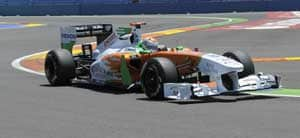 Sutil finishes 9th, Resta 14th at European GP