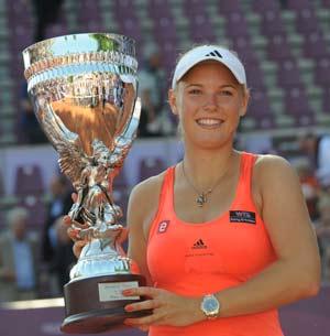 Wozniacki wins Brussels Open