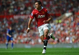Manchester United striker Hernandez out for 2 weeks