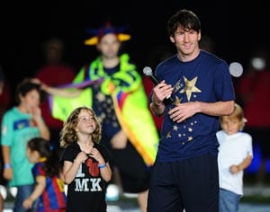 Messi and Barca feted by fans