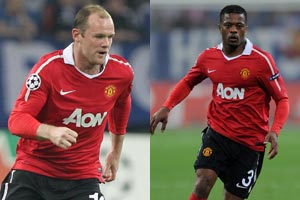 Rooney and Evra set for Chelsea clash