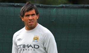 Mancini waits on Tevez ahead of FA Cup final