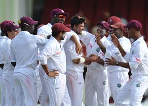 Pakistan spinners strike but Windies on top on day two