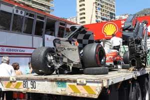 Perez crashes in Monaco GP qualifying