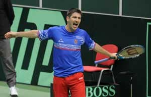 Kazakhstan leads Czech Republic 1-0 in Davis Cup