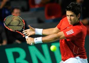 Spain leads Belgium 1-0 in Davis Cup