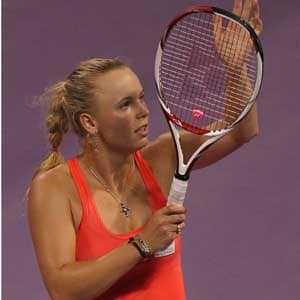Wozniacki cruises into Doha final