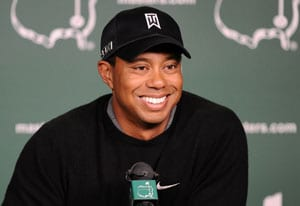 Tiger Woods has 'blast' in practice round