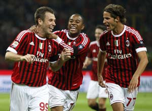 AC Milan hit back with 3-0 win over Palermo
