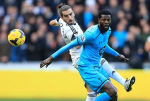 EPL: Emmanuel Adebayor stars as Tottenham Hotspur extend winning run