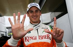 Singapore Grand Prix: Adrian Sutil brings home a point