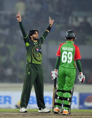 T20: Pakistan down Bangladesh by 50 runs
