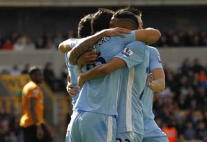 Manchester City revive EPL title bid, beat Wolves