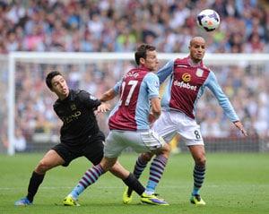 Aston Villa spoil Manchester City's rehearsal for Bayern Munich