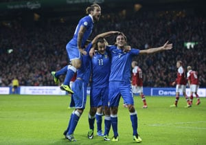 Italy secure draw against Denmark in FIFA World Cup qualifiers