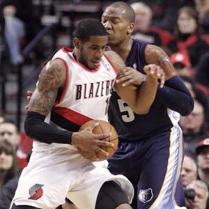 Aldridge, Camby lead Blazers past Grizzlies 97-84