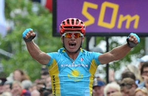 London 2012 Cycling: Vinokourov wins Olympic gold and retires