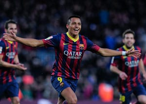 La Liga: Alexis Sanchez hat-trick puts Barcelona back on top