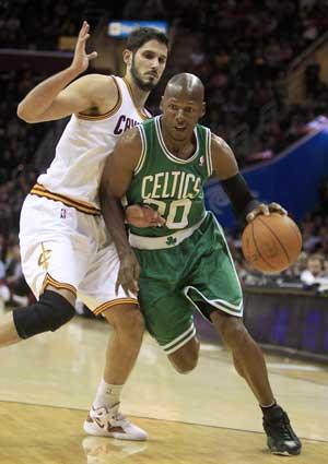 Allen, Garnett lead Celtics past Cavaliers 86-83