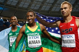 Mohammed Aman delivers first 800m medal for Ethiopia with gold at world athletics