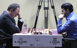 Viswanathan Anand draws with black in World Chess Championship
