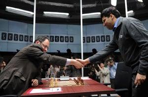 Viswanathan Anand meets Russian President Vladimir Putin