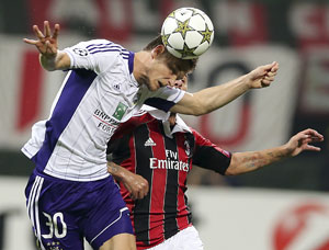 Milan held by Anderlecht in Champions League