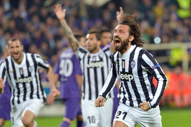 Andrea Pirlo strike sends Juventus into Europa League quarters