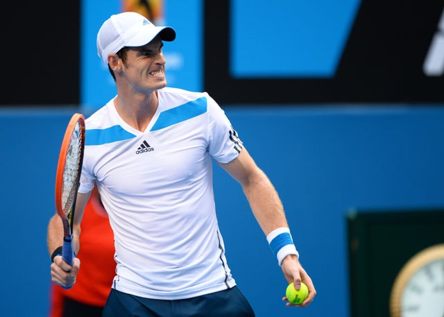 Australian Open: Racquet-smashing Andy Murray tested by 'lucky loser' Stephane Robert