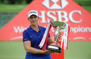 Angela Stanford wins in four-way playoff in Singapore