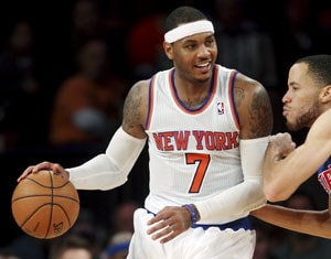 Carmelo Anthony leads New York Knicks over Detroit Pistons 121-100
