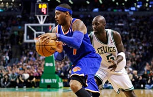 Carmelo Anthony's 28 points lead New York Knicks over Boston Celtics 89-86