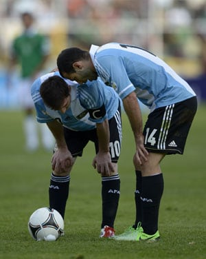 2014 WC qualifiers: Argentina suffer scare in Bolivia, rivals stumble