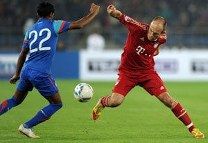Robben hopes Bayern friendly will inspire young Indian footballers