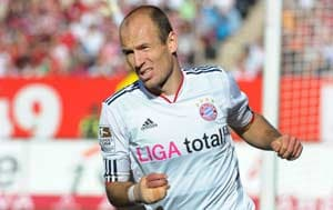 Robben ruled out of Kaiserslautern game