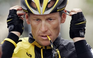 Banned Lance Armstrong says he'll race today