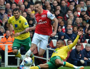 Arsenal Euro dream in balance after Norwich draw