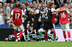 Arsenal, Newcastle charged over spat