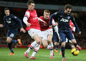 EPL: Arsenal held by Manchester United at home, Liverpool overcome Fulham