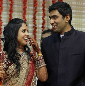 Ashwin, just married and ready to play