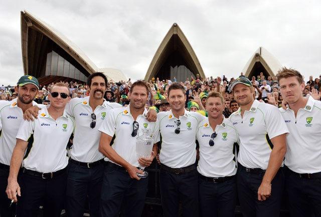 Thousands greet Australia's Ashes heroes at Sydney Opera House